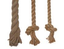 веревочки 3 узлов вертикальные Стоковое Изображение RF