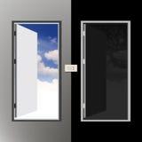 2 двери иллюстрация вектора