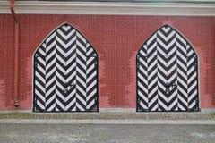 2 двери в крепости Питера и Пола в Санкт-Петербурге Стоковая Фотография