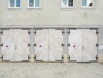 3 двери гаража Стоковая Фотография RF
