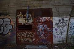 двери граффити Стоковые Изображения