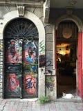 2 двери и кот Стоковая Фотография