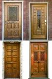 двери собрания 4 старых фото Стоковая Фотография RF