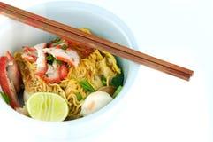 вермишель китайской еды тайская Стоковые Изображения