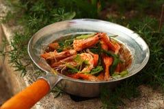 Вермишель креветки - еда Азии Стоковое Фото