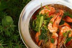 Вермишель креветки - еда Азии Стоковые Фото