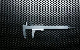 Верньерный крумциркуль с самыми интересными Стоковое Изображение