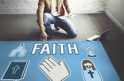 Верование веры верит концепции надежды осуждения доверия стоковые изображения rf