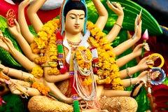 Вероисповедание, Таиланд Статуя Guanyin, Wat Plai Laem, большой Будда Te Стоковые Изображения