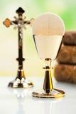 Вероисповедание христианства символа, яркая предпосылка, насыщенное conce Стоковое Фото