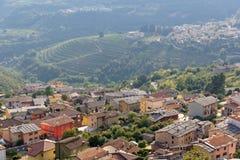 Верона, Италия 21-ое августа 2018: Естественный запас Lessinia горы, венето Италия стоковое изображение rf