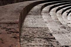 Верона, мраморные шаги амфитеатра Стоковые Фотографии RF