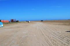 Вероятно самый большой пляж на Родосе стоковое фото rf