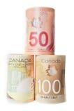Версии бумаги и полимера банкнот Стоковое Изображение RF