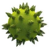 Версия 05 зеленой планеты легкая Стоковое Изображение