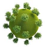Версия 04 зеленой планеты легкая Стоковые Изображения