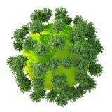 Версия 06 зеленой планеты легкая Стоковые Изображения