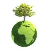 Версия 09 зеленой планеты легкая Стоковая Фотография