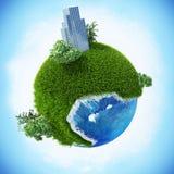 Версия 07 2 зеленой планеты легкая Стоковая Фотография