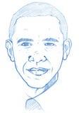 версия портрета карандаша obama barack Стоковая Фотография RF