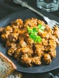 Версия сои Vegan венгерского тушёного мяса мяса вызвала pörkölt Стоковое фото RF