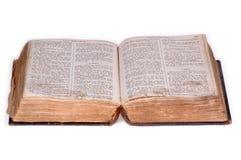 версия 5 библий старая открытая Стоковое Изображение