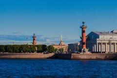 Вертел взгляда острова Vasilyevsky Стоковые Изображения RF