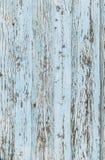 Вертикальная предпосылка старых вертикальных доск покрашена в свете - голубом цвете Стоковое Изображение RF