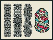 Вертикальные безшовные картины и текстурированный объект. бесплатная иллюстрация