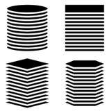 Вертикальные танки, башни Круг, прямоугольник, квадрат, versi шестиугольника иллюстрация штока