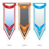 вертикаль вектора комплекта цвета знамени выдвиженческая Иллюстрация штока