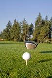 вертикаль гольфа водителя шарика Стоковое фото RF