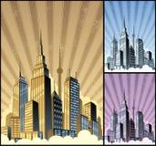 вертикаль городского пейзажа Стоковое Фото