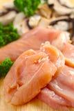 вертикаль гриба ингридиентов цыпленка Стоковые Изображения RF