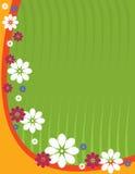 вертикаль зеленого цвета цветка предпосылки Стоковая Фотография RF
