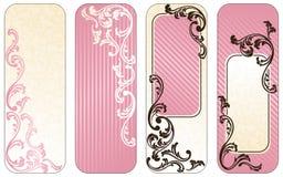 вертикаль знамен французская розовая романтичная Стоковая Фотография