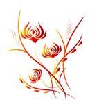 вертикаль картины цветка предпосылки Стоковые Изображения RF