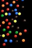 вертикаль конфеты предпосылки черная Стоковые Фото