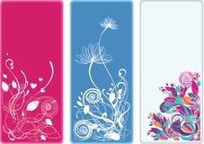 вертикаль красивейших bookmarks знамен флористическая Стоковое Изображение RF