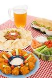 вертикаль партии еды Стоковые Изображения RF