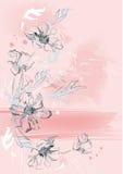 вертикаль предпосылки флористическая Стоковое Изображение