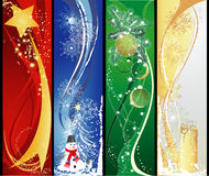 вертикаль рождества 4 знамен Стоковые Фотографии RF