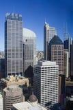 вертикаль Сиднея небоскребов города Стоковое Изображение RF