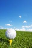 Вертикаль шара для игры в гольф стоковая фотография rf