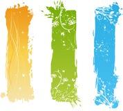 вертикаль элементов знамен флористическая grungy иллюстрация штока