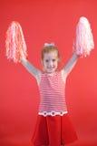 вертикаль девушки чирлидера Стоковая Фотография