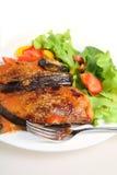 вертикаль parmigiana еды баклажана Стоковая Фотография