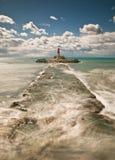 вертикаль seascape маяка состава Стоковые Изображения RF