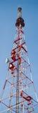 вертикаль tv башни панорамы связей стоковая фотография