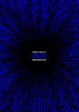 Вертикальная геометрическая иллюстрация радиальных случайных абстрактных форм Голубая предпосылка шарика диско Стоковое фото RF